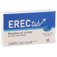 Stimulants pour homme Erectab Erection et Vitalite - 20 Comprimes