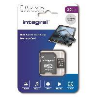 Stockage Externe INTEGRAL MEMORY Micro SDXC 32GB Haute Vitesse 100MB/s de vitesse de transfert