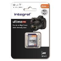 Stockage Externe INTEGRAL MEMORY Premium High Speed SDHC-XC V30 UHS-I U3 Carte SDXC 256GB