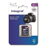 Stockage Externe INTEGRAL MEMORY V10 Class 10 UHS-I U1 Carte SDHC 32GB