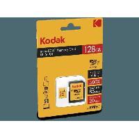 Stockage Externe KODAK Class10 U1 Carte mémoire microSDHC - 128 GB - Avec adaptateur