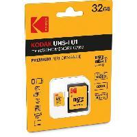Stockage Externe KODAK Class10 U1 Carte mémoire microSDHC - 32 GB - Avec adaptateur