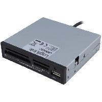 Stockage Externe Lecteur de carte memoire interne avec port USB 2.0 - 3.5p - 54 en 1 LogiLink