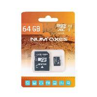 Stockage Externe NUMAX Carte memoire Micro SDXC 64 Go Classe 10 avec adaptateur