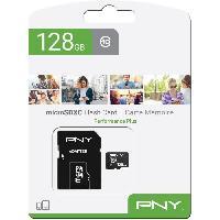 Stockage Externe PNY Carte memoire MICROSD 128GB PERFORMANCE PLUS C10