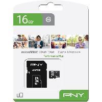 Stockage Externe PNY Carte memoire MICROSD 16GB PERFORMANCE PLUS C10