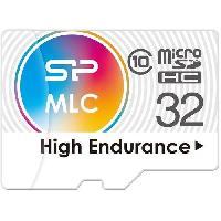 Stockage Externe SILICON POWER Carte memoire microSD - High endurance - 32 Go Aucune