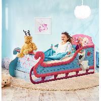 Structure De Lit LA REINE DES NEIGES Lit enfant fille Traîneau avec rangement 70 * 140 cm - Worlds Apart