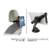 Support Pc Et Tablette CNC10 - Support universel pour tablette Systeme de fixation pour appuie-tete et par ventouse - Caliber