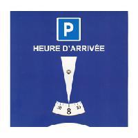 Supports Assurance Disque de stationnement europeen zone bleue PVC