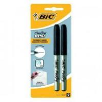 Surligneur - Recharge BIC Marking Texile Feutres Textiles Pointe Ultra Fine - Noir. Blister de 2