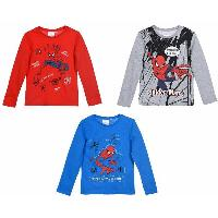 T-shirt - Debardeur 24x T-Shirt Manches Longues Spiderman -assort.-