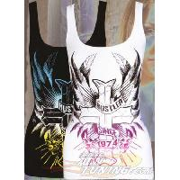 T-shirt - Debardeur Haut Femme -Blessed- Noir - M