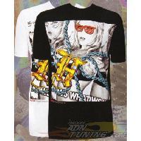 T-shirt - Debardeur T-Shirt Homme -Casino- Noir - L - Version Streetwear - Hustler