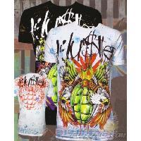 T-shirt - Debardeur T-Shirt Homme -Death from Above- Blanc - L - Version Clubwear - Hustler