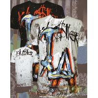 T-shirt - Debardeur T-Shirt Homme -L.A. Weapons- Noir - L - Version Clubwear Hustler