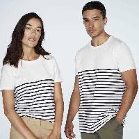 T-shirt - Debardeur T-Shirt mariniere blanc Homme - Taille L
