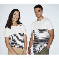 T-shirt - Debardeur T-Shirt mariniere blanc Homme - Taille S