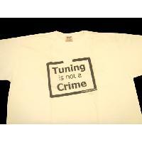 T-shirt - Debardeur Tshirt - Tuning is not a Crime - Blanc - Taille L ADNAuto