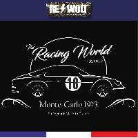 T-shirt - Debardeur Tshirt noir ALPINE RENAULT A110 MONTE-CARLO 1973 by RE-Wolt - Collection Vintage The Racing World - Taille L