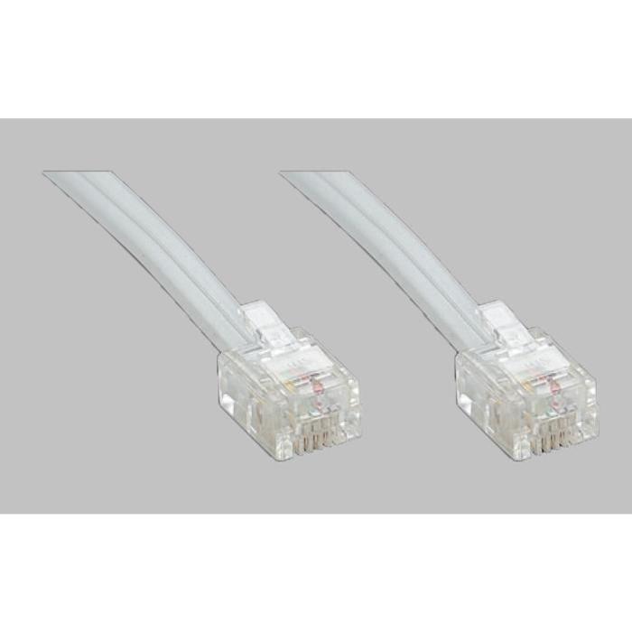 TECHNIMEDIA-9139TM04-Cable-RJ11-Haut-Debit-ADSL-10-m-Blanc