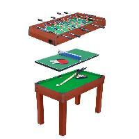 Table Multi-jeux Billard 3 en 1