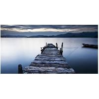 Tableau - Toile Tableau deco BCN 50x100 - Paysage ponton bateau