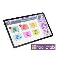 Tablette FACILOTAB L Galaxy WiFi Tablette tactile pour seniors - 10.1 TFT - 1920 x 1200 - RAM 2Go - Stockage : 32 Go