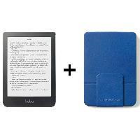 Tablette Pack KOBO : Liseuse Tactile Clara 6 - Stockage 8Go + Etui SleepCover Bleu