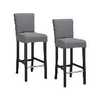 Tabouret De Bar ELVIS 2 chaises de bar dehoussables - gris