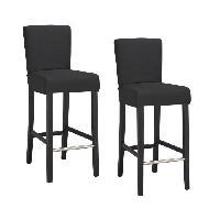 Tabouret De Bar ELVIS 2 chaises de bar dehoussables - noir