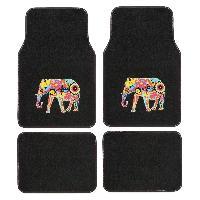 Tapis de sol 4 Tapis moquette Indian Elephant - Noir