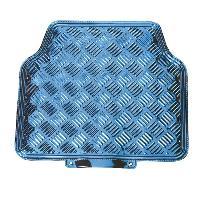 Tapis de sol Jeu de 4 Tapis de sol Look Aluminium - Universels - Bleu - ADNAuto