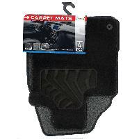 Tapis de sol Tapis moquette compatible Nissan Qashqai 07-14 sur mesure 4 pieces Carplus
