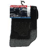 Tapis de sol Tapis moquette pour Citroen C3 09-16 sur mesure 4 pieces noir Carplus