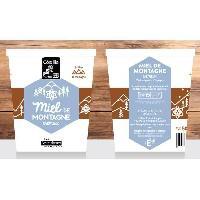 Tartinage Sucre COTE MIEL Miel de Montagne - Crémeux - 500 g
