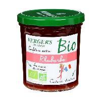 Tartinage Sucre Confiture extra rhubarbe bio - Vergers des Alpilles - 370 g