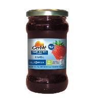 Tartinage Sucre GERBLE Confiture de fraise sans sucres ajoutés - 320 g