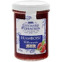 Tartinage Sucre GUICHARD PERRACHON Confiture de Framboises Willamette Cuite au Chaudron - 245 g