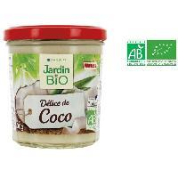 Tartinage Sucre JARDIN BIO Confiture Délice de coco allégée en sucres bio - 300 g