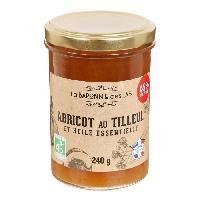 Tartinage Sucre LA BARONNIE DES LYS Confiture d'abricot au tilleul et huile essentielle bio - 250 g