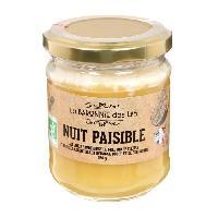 Tartinage Sucre LA BARONNIE DES LYS Miel et huile essentielle bio Nuit paisible - 250 g
