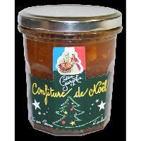 Tartinage Sucre LUCIEN GEORGELIN Confiture de Noël a base d'orange. pommes et pain d'épices - 320 g