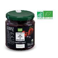 Tartinage Sucre Préparation a base de framboises. fraises et myrtilles bio - 330 g - Generique