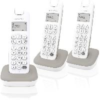 Telephonie - Gps ALCATEL Téléphone fixe D185 VOICE TRIO Blanc/Gris
