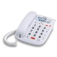Telephonie - Gps Alcatel TMax 20 Blanc Téléphone Filaire Senior