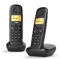 Telephonie Fixe A270 Duo Noir sans répondeur