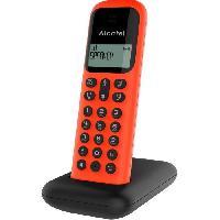 Telephonie Fixe ALCATEL Téléphone fixe D285 SOLO Rouge sans fil dect solo écoute amplifiée