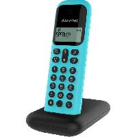 Telephonie Fixe ALCATEL Telephone fixe D285 SOLO Turquoise sans fil dect solo ecoute amplifiee
