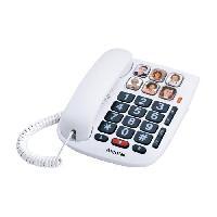 Telephonie Fixe Alcatel TMax 10 Blanc Téléphone Filaire Senior
